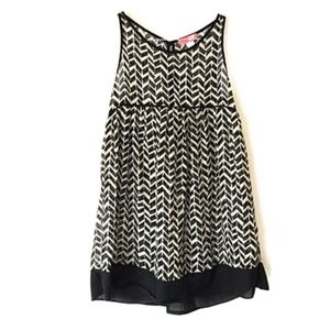 Urban Outfitters Lux Chevron Empire Waist Dress S